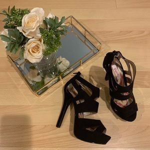Shoes - Suede 5inch heels, black. Like new.